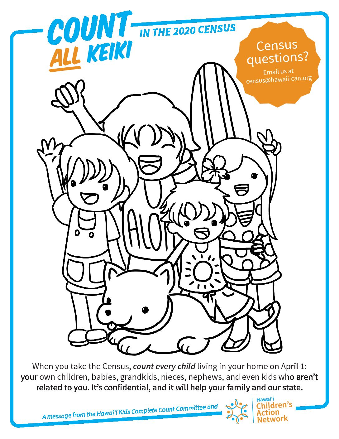 Census 2020 Coloring pages